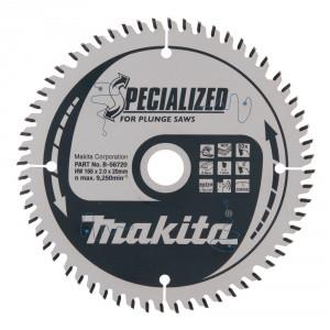 Diskas medienai MAKITA Specialized 165*20 mm Z60