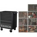 Vežimėlis įrankiams 7 stalčių BAHCO E72 su 417 įrankių