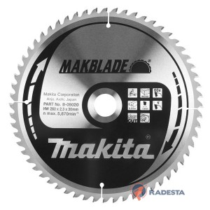 Diskas medienos pjovimui MAKITA Makblade 250*30 mm Z60